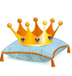 Queens crown on pillow vector