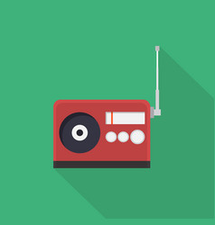 radio icon set of great flat icons with style vector image