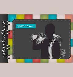 school album traveler vector image