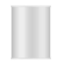 shiny tin can of food mockup realistic style vector image