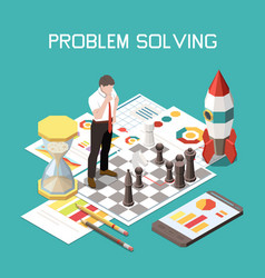 Soft skills isometric colored composition vector