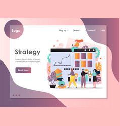 Strategy website landing page design vector