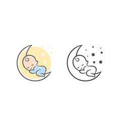 sweet dream logo vector image