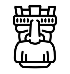 Tattoo idol icon outline style vector