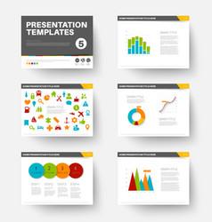 template for presentation slides 5 vector image