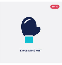 Two color exfoliating mitt icon from beauty vector
