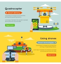 Two new technologies banner set vector
