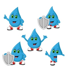 Water antibacteria Icon Set vector image