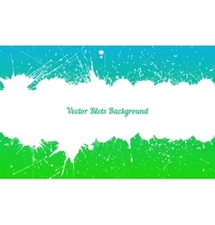 white ink splashes over blue green vector image