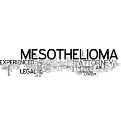 Why opt for an experienced mesothelioma attorney vector