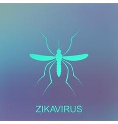Zika mosquito Virus alert Aedes Aegypti vector image