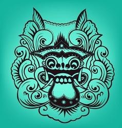 Balinese artwork barong vector