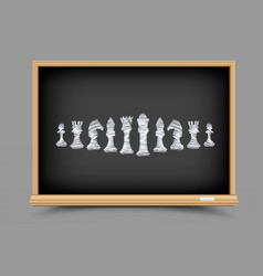chess strategy lesson vector image vector image