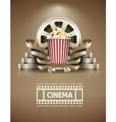 Cinema concept with popcorn vector image vector image