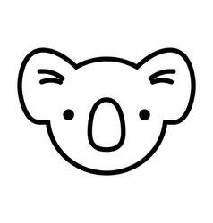 koala face simplified vector image vector image