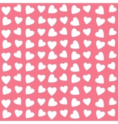 Seamless texture with hearts vector image vector image