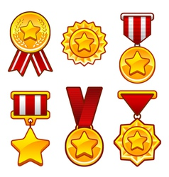 Medals with star vector image vector image