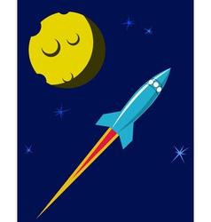Retro Space Rocket vector image