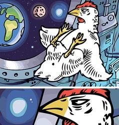 Space Chicken vector image vector image
