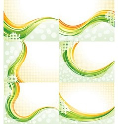Abstract Flowing Backgrounds vector image