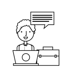 Person user laptop computer vector