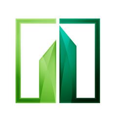 shiny realty logo vector image