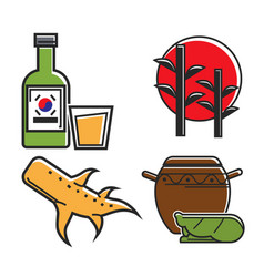 traditional korean symbols vector image