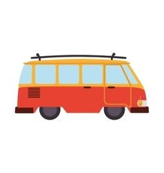 van retro car hawaiian vintage design vector image