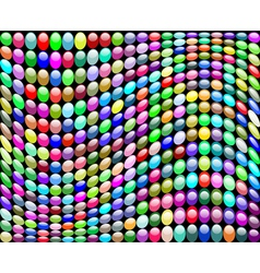 background with a wave of circles vector image vector image