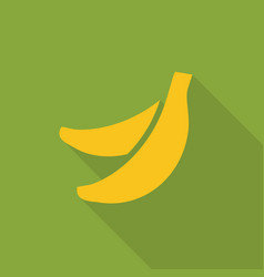 bananas flat icon with shadow vector image