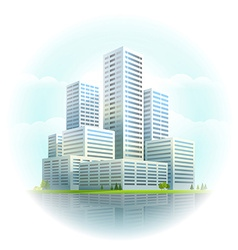 Modern cityscape Business city skyscrapers vector image vector image