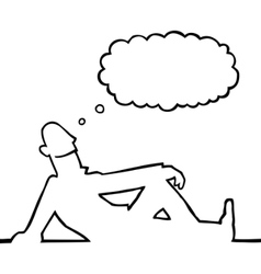 Person daydreaming vector