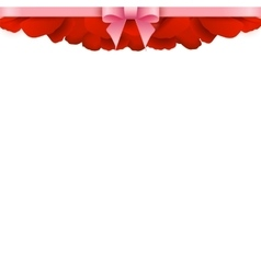 Rose Petals Border on white background Valentines vector image