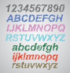 Scribble Font vector image vector image