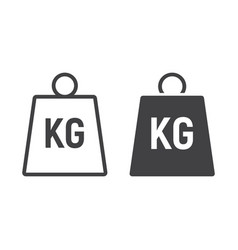 weight symbol line and glyph icon logistic vector image