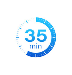 35 minutes stopwatch icon stopwatch vector