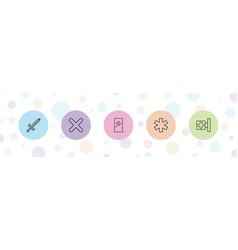 5 cross icons vector