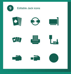 9 jack icons vector