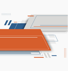 Abstract blue gray orange color geometric with vector