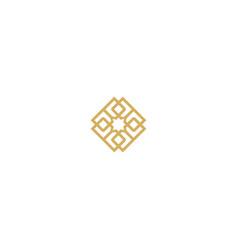 Abstract geometry decorative logo vector