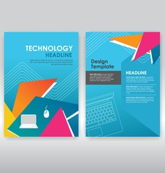 abstract triangle brochure design template vector image