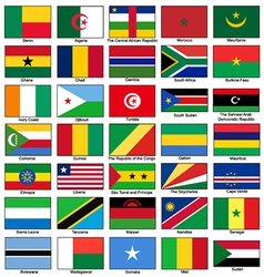 Africa Flags Set vector image