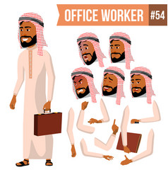 arab office worker saudi emirates qatar vector image
