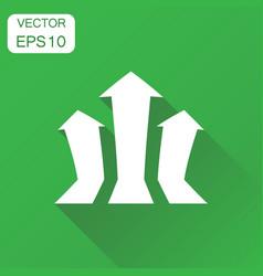 Arrow growing graph icon business concept vector