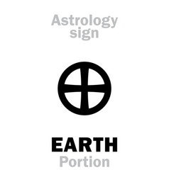 Astrology sign of earth portion or pars terrae vector