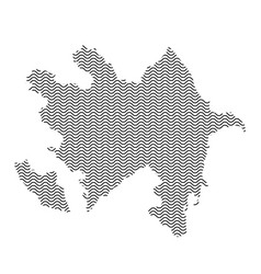 azerbaijan map country abstract silhouette of vector image