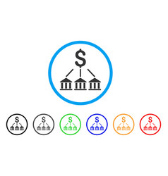 Bank association rounded icon vector