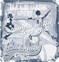 baseball longball hit vector image