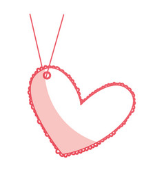 Beautiful heart drawing hanging vector