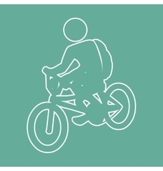 bike ride design vector image